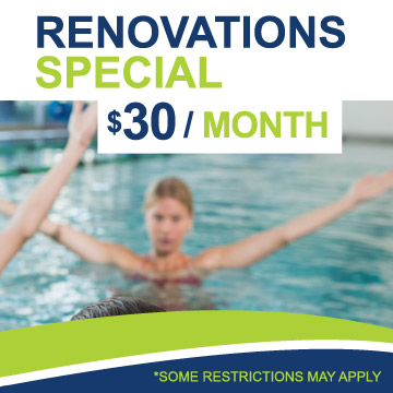 Renovations Special – $30 / Month
